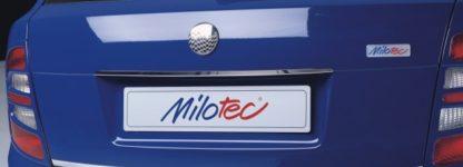 Lišta nad zadní SPZ – nerez, Škoda Fabia I + II Limousine