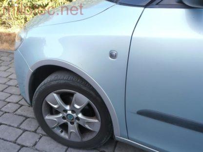 Lemy blatníků, stříbrné matné, Fabia II. Limousine 2007-2010