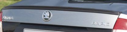 Designový kryt pod SPZ, ABS černá metalíza, Škoda Rapid Limousine