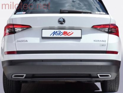 Dummy – koncovky výfuku, ABS – Alu-Brusch, Škoda Kodiaq