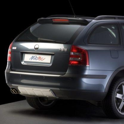 ALL-ROAD zadní díl nárazníku, ABS-stříbrný, Škoda Octavia II