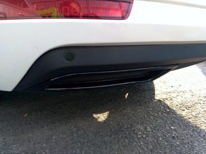 """Atrapa výfuku- ABS černý lesklý """"klavírlak"""", Škoda Octavia III./ Facelift, r.v.2013/2017"""