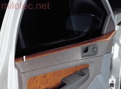 Dekor dveří horní – ABS s povrchem kořenového dřeva, Fabia I. Combi 2000-2007