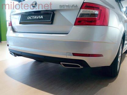 Dummy – koncovky výfuku, Alu Brush, Škoda Octavia III./ Facelift, r.v.2013/2017