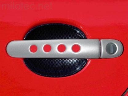 Kryty klik – děrované, stříbrné matné, (2+2 ks dva zámky), Roomster 2006-2010 / Roomster Facelift od r.v. 04/2010