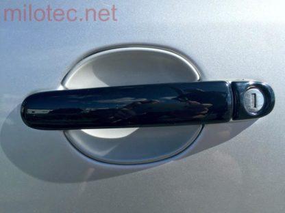 Kryty klik – plné, černá metalíza, (2+2 ks dva zámky), Roomster 2006-2010 / Roomster Facelift od r.v. 04/2010