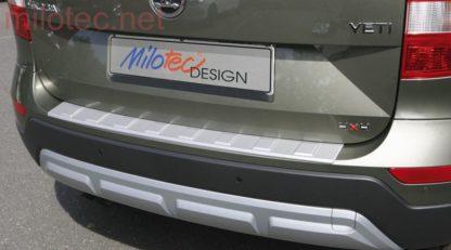 Práh pátých dveří s výstupky, stříbrný matný, Yeti City Facelift od r.v. 2013