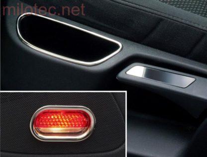 Nerezové rámečky – na dveře a sedadlo, Škoda Octavia II. 2004-2012