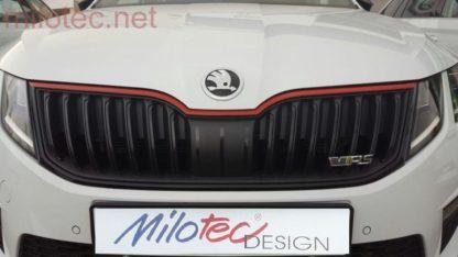 Racing lišta na přední masku, Škoda Octavia III. Facelift od r.v. 2017